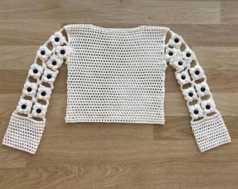Cotton crochet shirt and shortssummer clothingwomens | Etsy