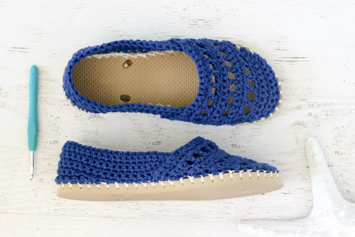 Crochet Shoes with Rubber Bottoms -- Free