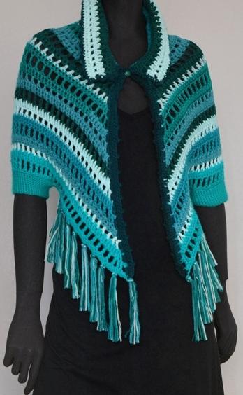 Crochet shrug PATTERN, crochet shoulder wrap, casual crochet shrug