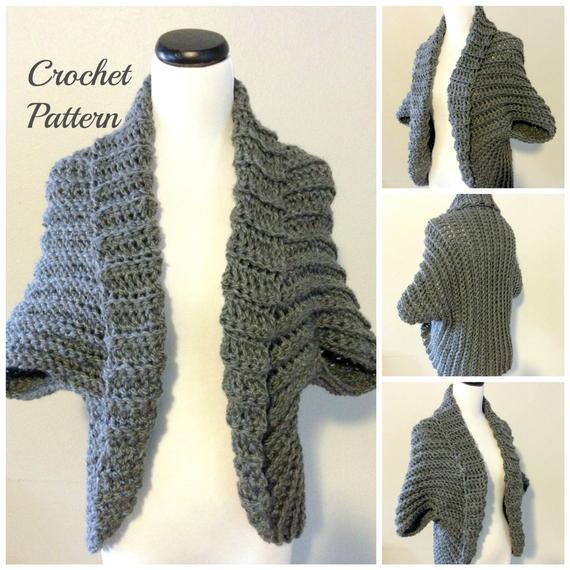CROCHET PATTERN Crochet Shrug Pattern Chunky Shrug Pattern | Etsy