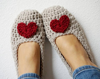 Crochet slippers | Etsy