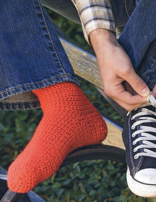 Basic Crocheted Socks   AllFreeCrochet.com