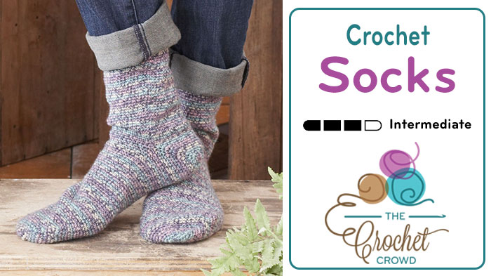 How to Crochet Socks for Beginners + Tutorial | The Crochet Crowd
