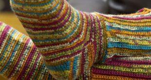 Colorful Crochet Socks   Red Heart