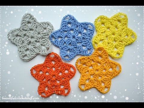 Crochet Star Pattern - YouTube