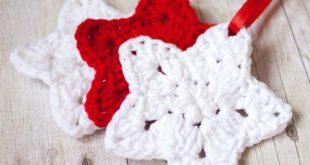 Christmas Star Crochet Ornament Pattern | FaveCrafts.com
