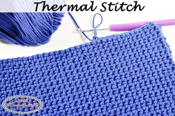 Thermal Stitch aka Double Thick Crochet Stitch - Photo and Video