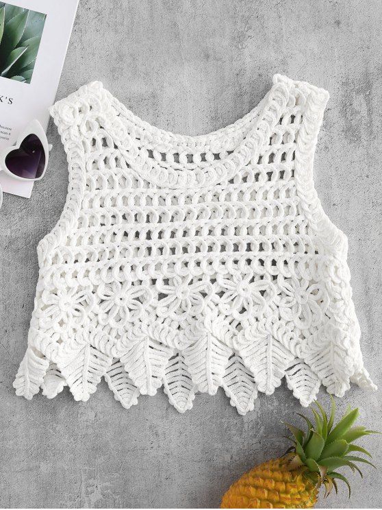 2019 Chunky Crochet Top In WHITE ONE SIZE | ZAFUL