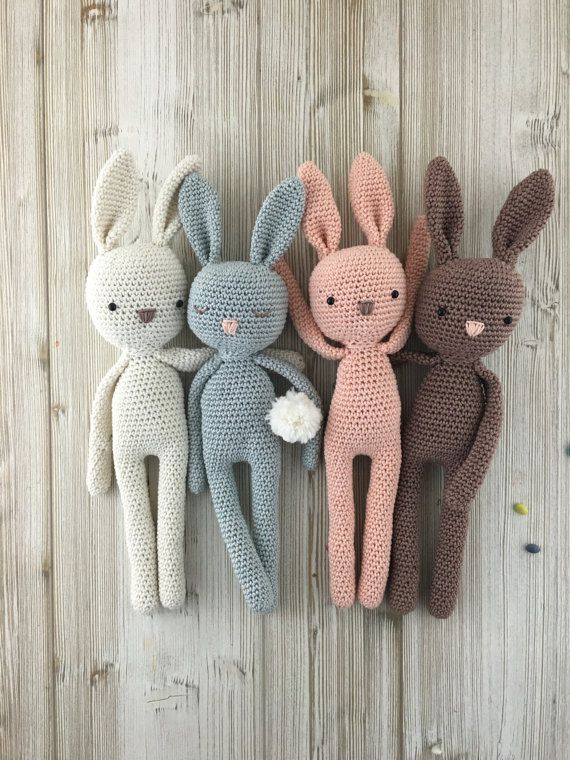 Lovely amigurumi bunny perfect soft cuddly toy for your child. Made