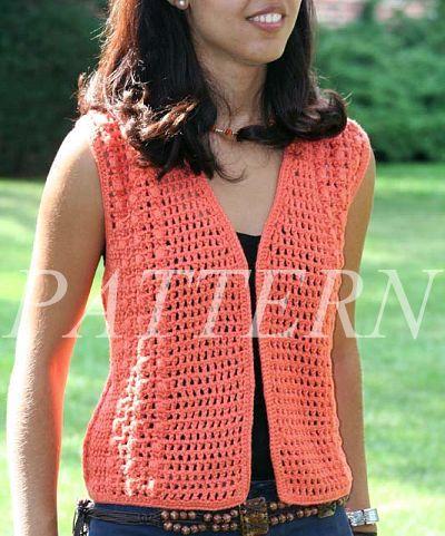 Easy Crochet Vest Pattern | Misti Alpaca Crochet Open Weave Vest