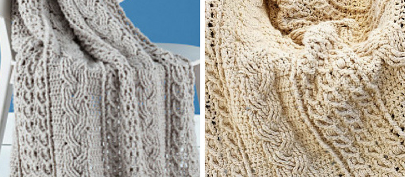 Free Pattern] We're Crazy For This Mesmerizing Cable Crochet Afghan