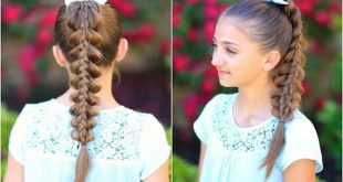 Stacked Pull-Thru Braid   Cute Girls Hairstyles - YouTube