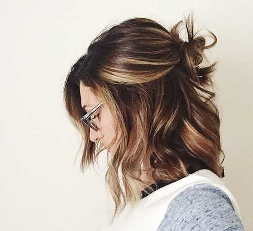 15+ Cute Buns for Short Hair | Hairstyles | Pinterest | Short hair