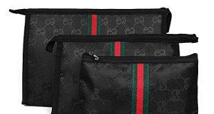 Amazon.com: Beatfull Cosmetic Bag Set of 3 for Purse, Designer
