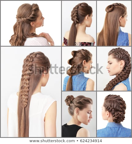 Woman Different Hairstyles Stock Photo (Edit Now) 624234914