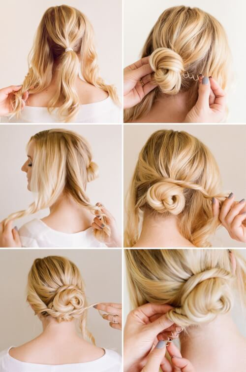 13 Curly DIY Hairdo & Quick Buns u2013 Simply Gorgeous