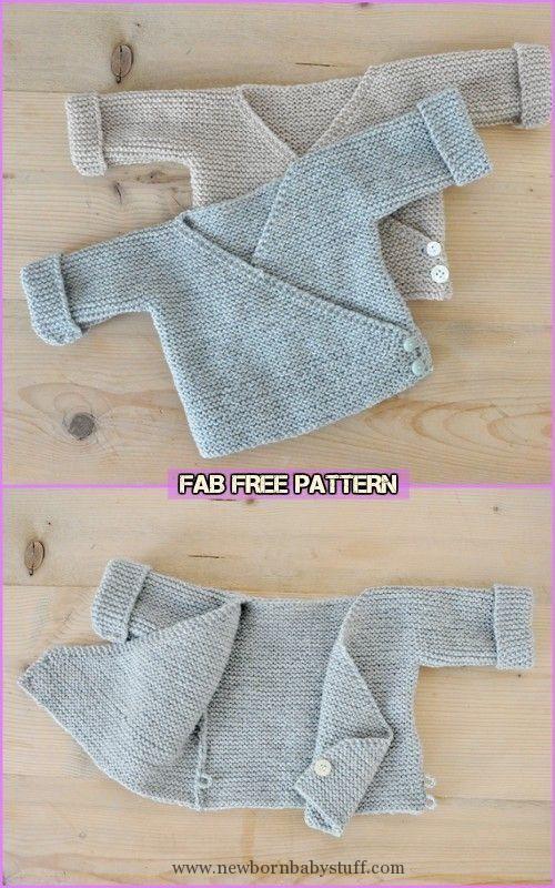 Baby Knitting Patterns Easy Knit Baby Kimono Cardigan Free Patterns