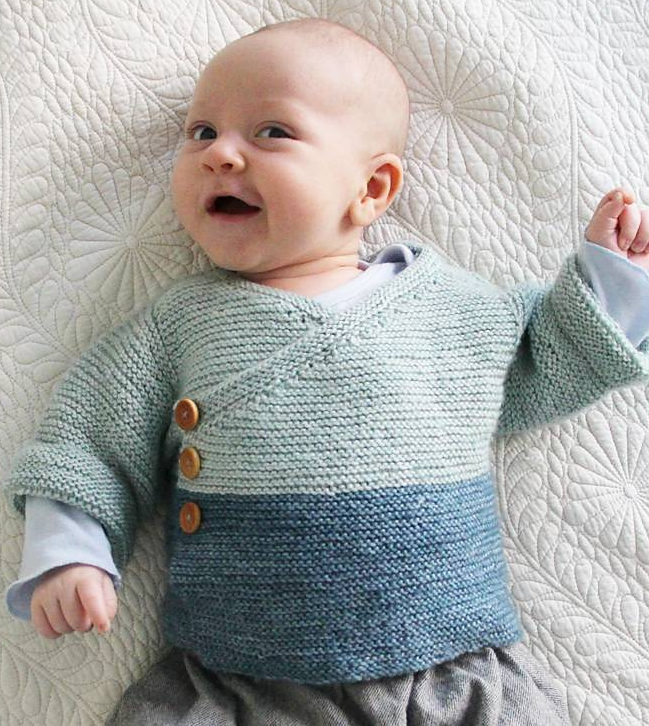 Gift your baby a sweater with these easy   baby knitting patterns