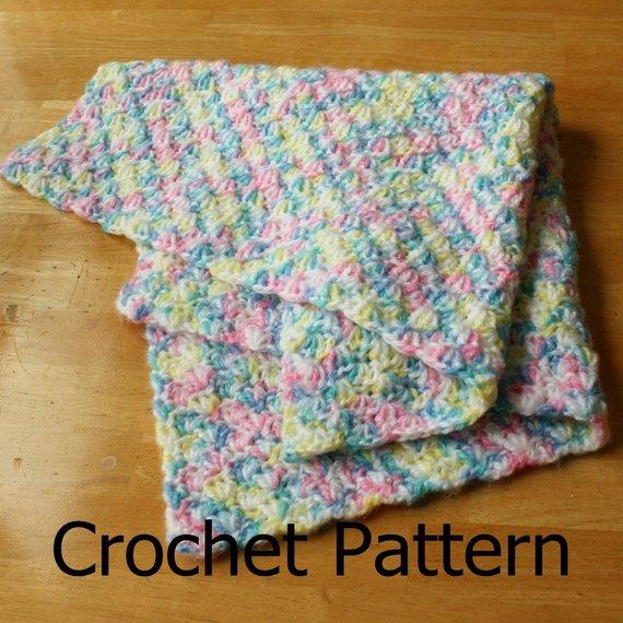 Easy crochet baby blanket easy crochet pattern crochet baby | Etsy