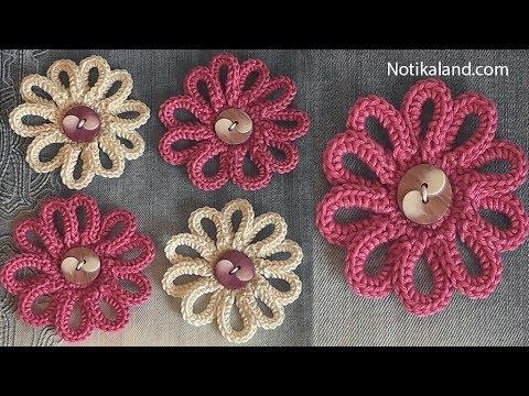DIY Tutorial VERY EASY How to Crochet Flower - Flowers for decor