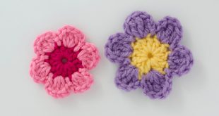 Easy Crochet Flower Pattern - Crochet 365 Knit Too
