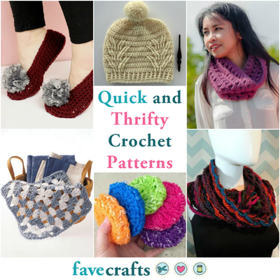 49 Quick and Thrifty, Free Easy Crochet Patterns | FaveCrafts.com