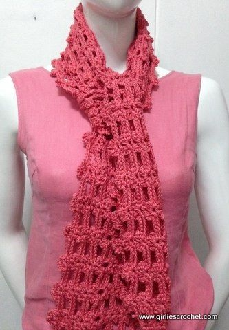 Easy Crochet Scarf 2 | scarves/crochet | Pinterest | Crochet