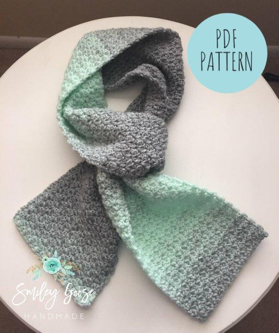 Chunky Crochet Scarf PatternBulky Yarn PatternKenzie | Etsy