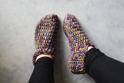 One Hour Crochet Slippers | AllFreeCrochet.com