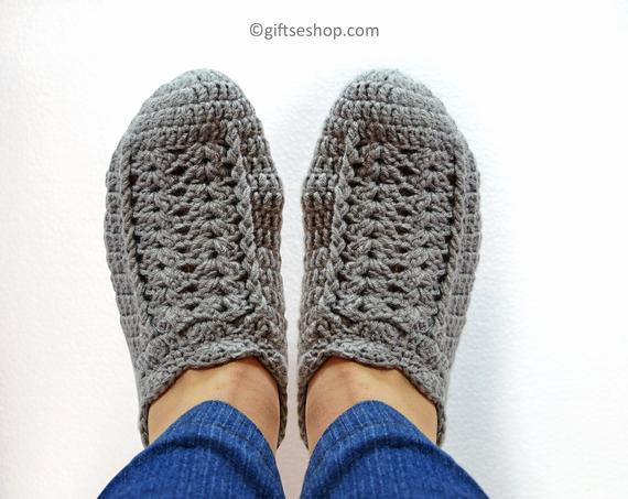 Easy Crochet Slippers Pattern | Etsy