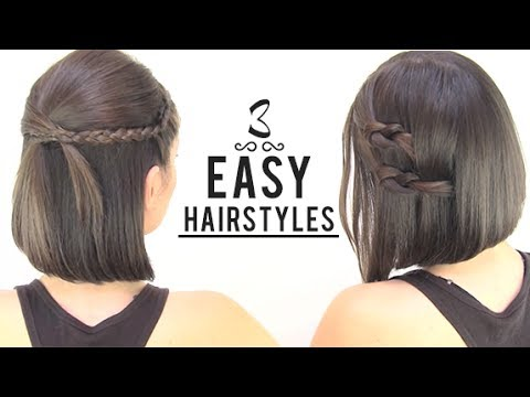 EASY HAIRSTYLES FOR SHORT HAIR - YouTube