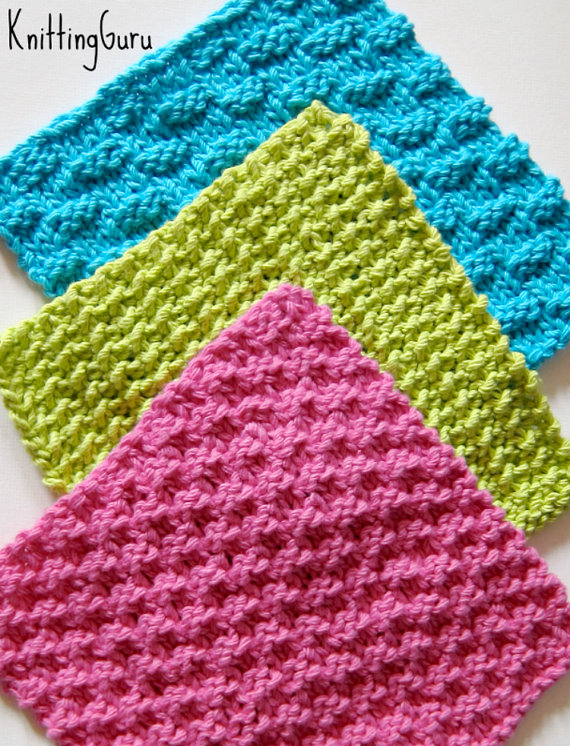 6 Ecofriendly Knit Dishcloth Patterns Tutorials - E-book PDF - Fast