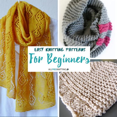 Some easy knitting patterns for beginners