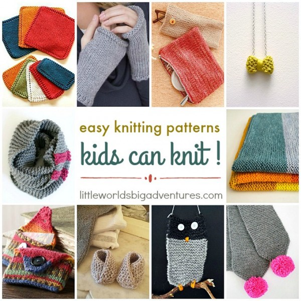 Easy Knitting Patterns Kids Can Knit u2013 Knitting