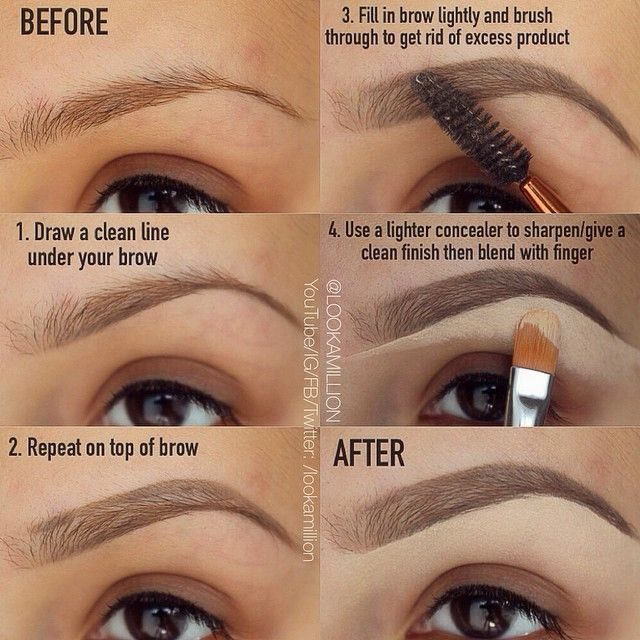 This technique is amazing for filling in eyebrows! #beauty #eyebrows