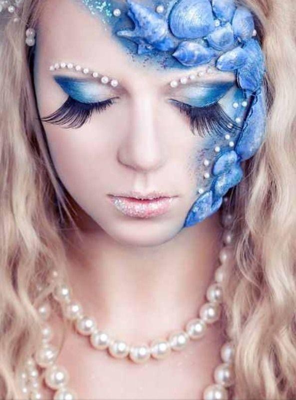 Beautiful Mermaid Fantasy Makeup! in 2019 | Halloween 2017
