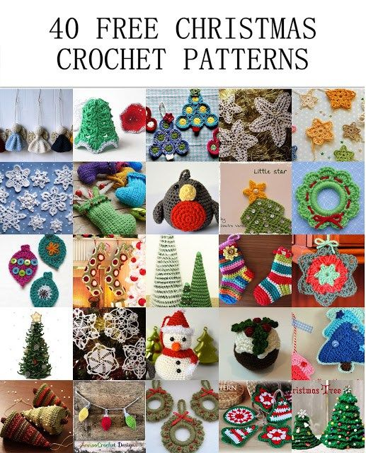 40 Free Christmas Crochet Patterns | Crochet | Christmas crochet