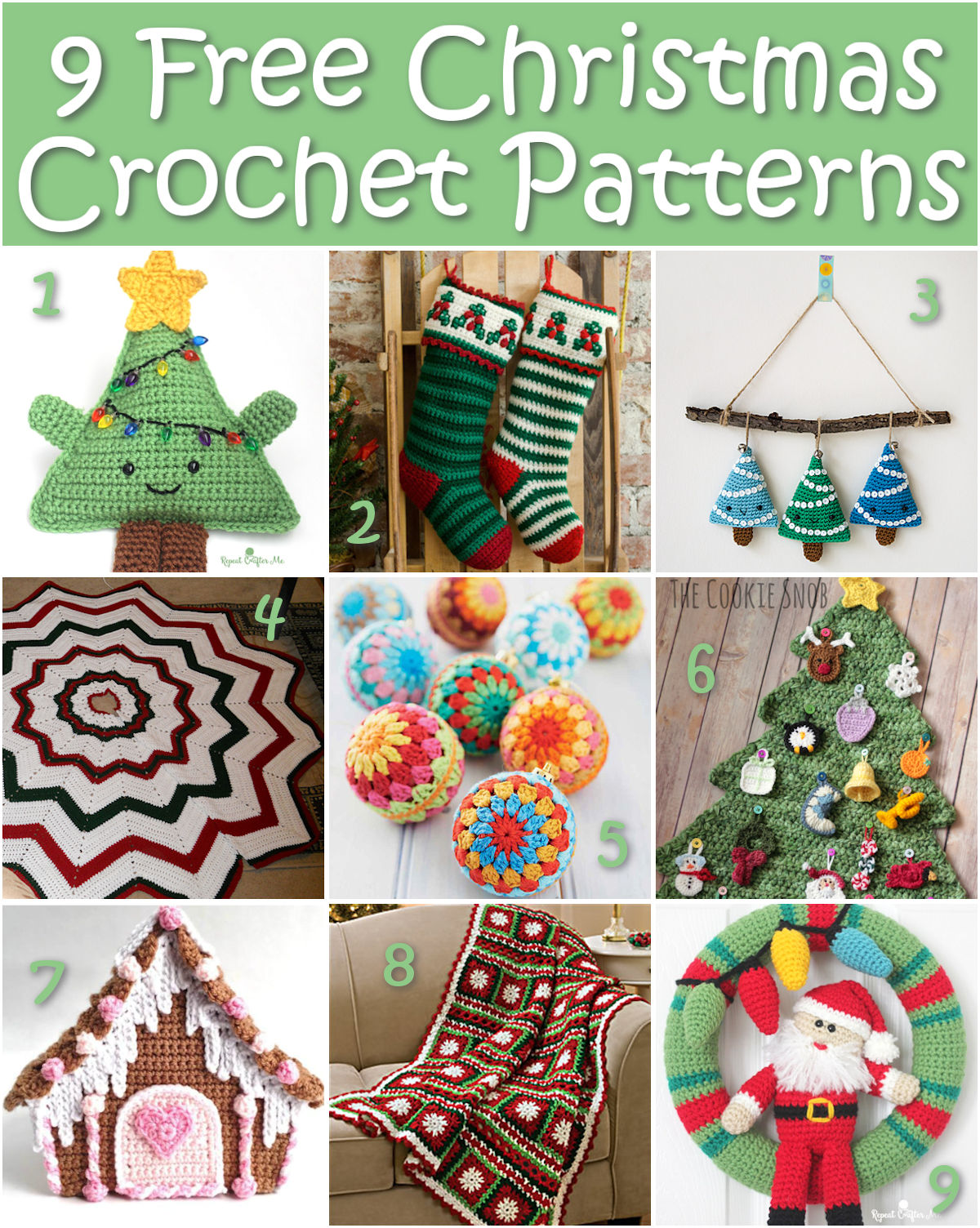 9 Free Christmas Crochet Patterns |