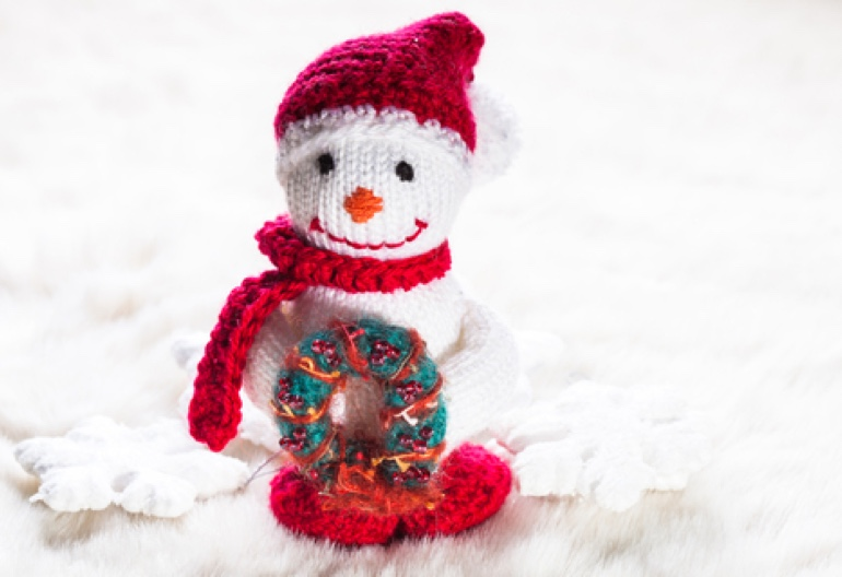 Free Christmas Wreath and Snowman Knitting Patterns | Knitting Women