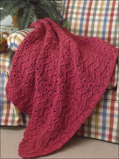 Free Rhapsody in Rose Afghan Crochet Pattern -- Download this free