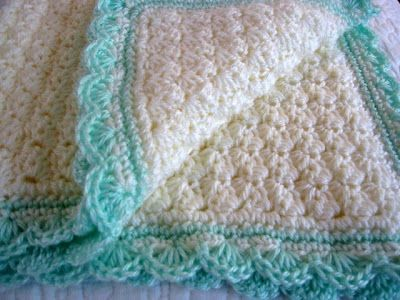 Crocheting a baby blanket gift using free   crochet baby blanket patterns