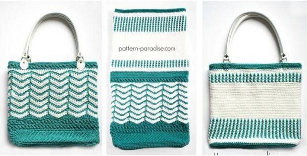 Eve's Reversible Crochet Tote Bag [FREE Crochet Pattern]