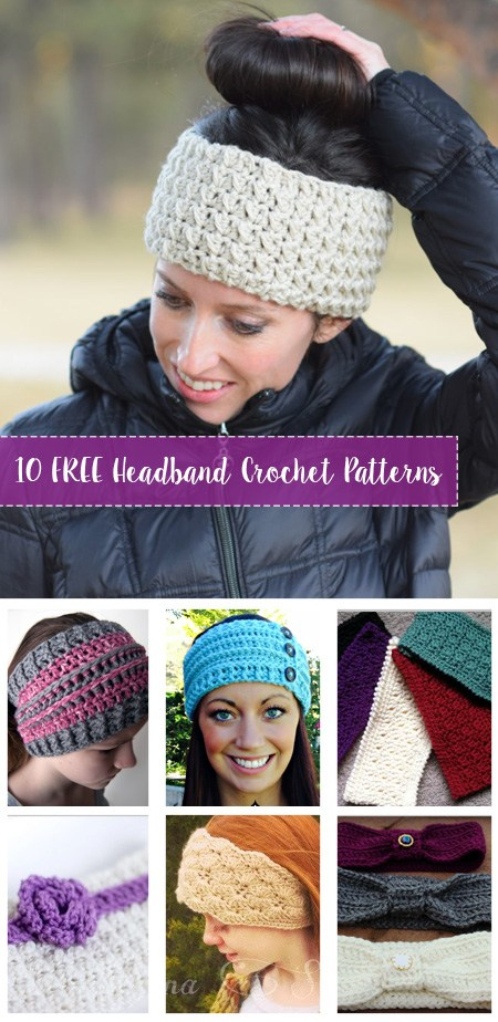 FREE Crochet Headband Patterns - Crafty Tutorials