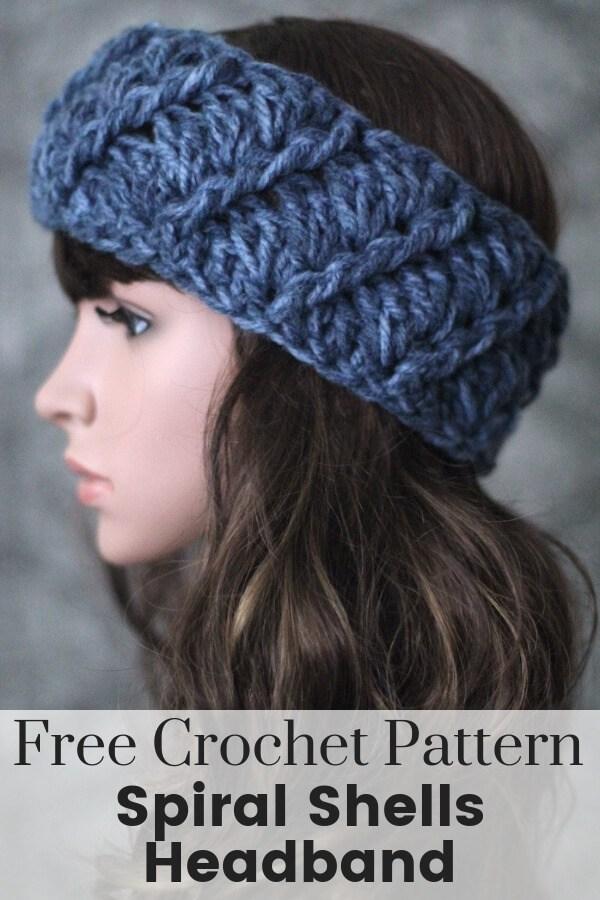 Spiral Shells Crochet Headband Pattern
