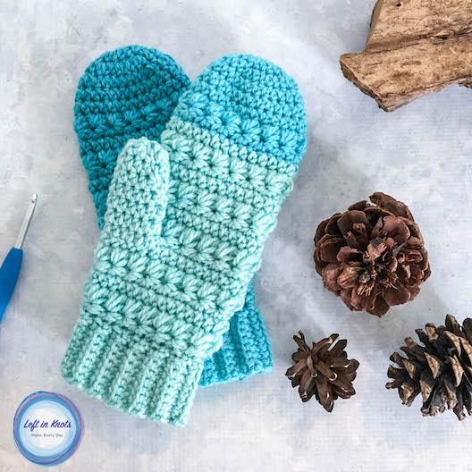 Snow Drops Mittens Free Crochet Pattern u2014 Left in Knots