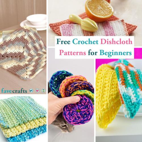 23 Free Crochet Dishcloth Patterns for Beginners | FaveCrafts.com