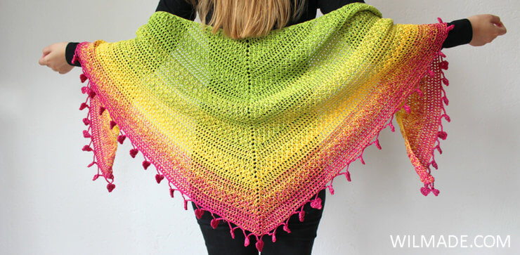 10 free crochet shawls for summer - free pattern roundup by Wilmade