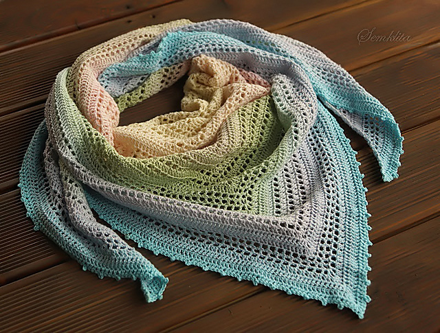 Summer Morning Shawl Free Crochet Pattern | Free Crochet Patterns