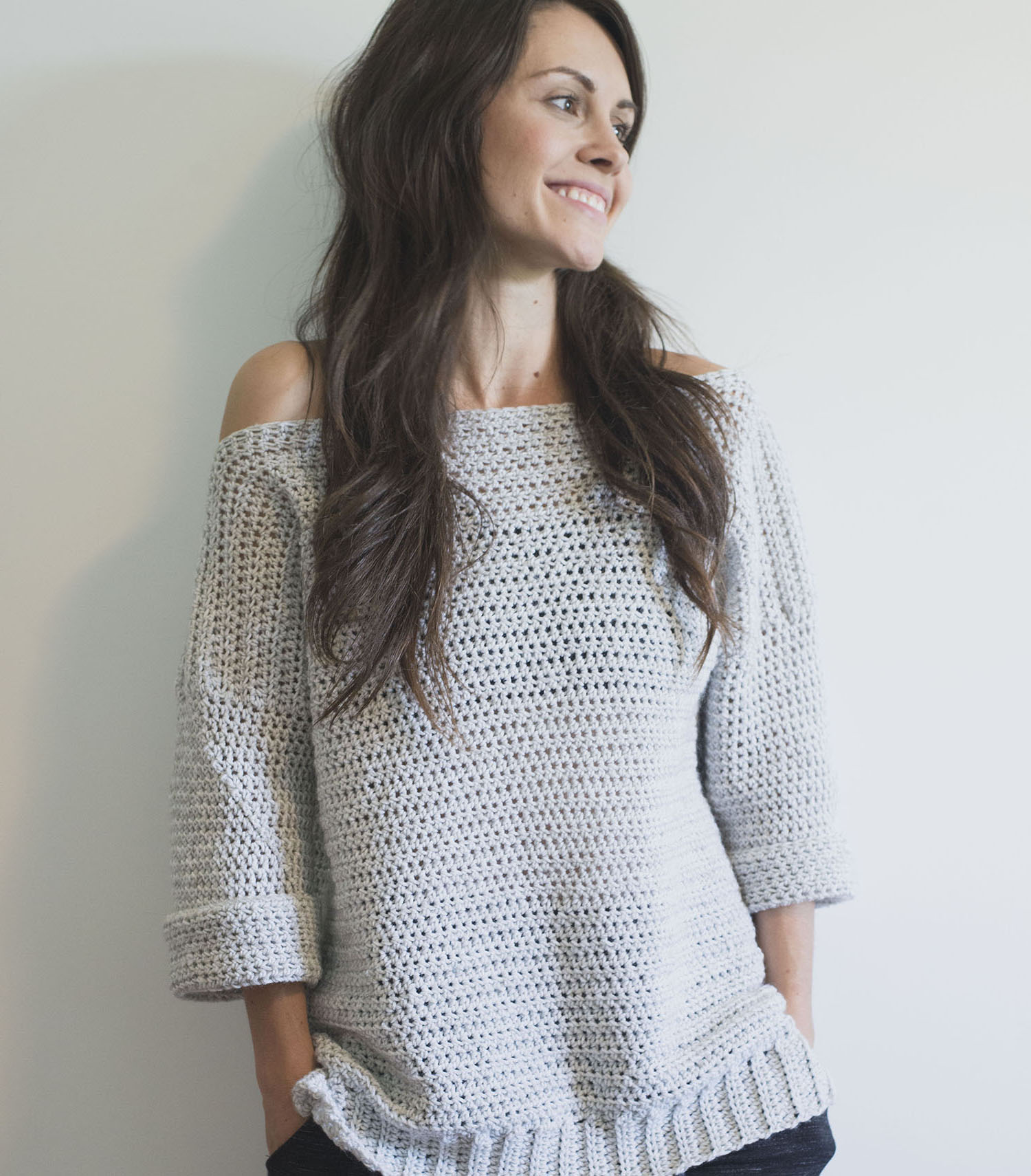 Free Crochet Pattern for The Homebody Sweater (Easy, Comfy and Cute
