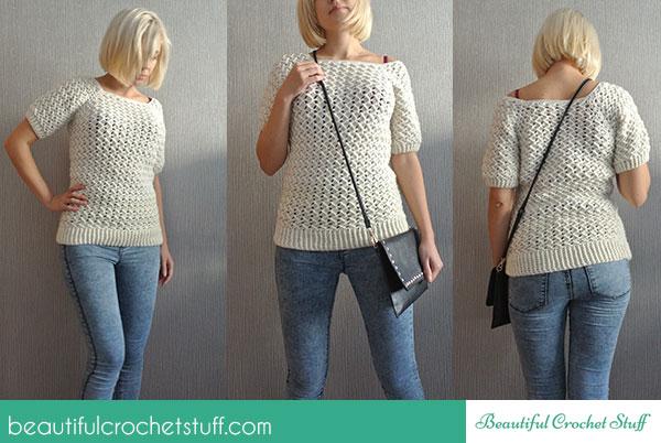 Free Crochet Sweater Pattern | Beautiful Crochet Stuff